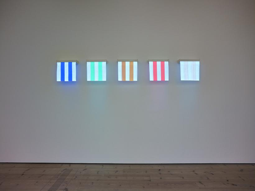Daniel buren, 5 Colours of Electric Light: situated work, 2011