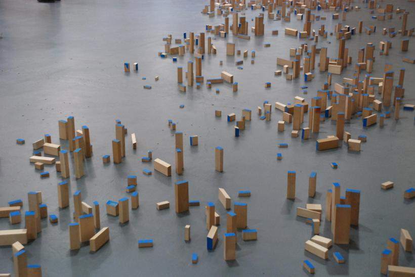 Colin Booth: Metropolis, Installation View, Cities of Ash, g39 Cardiff (2014)