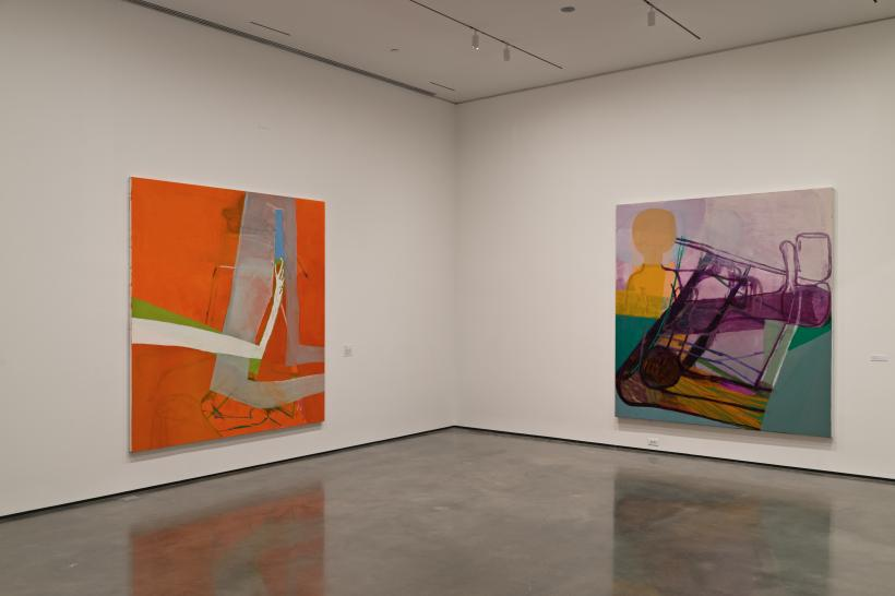 Installation view from Amy Sillman: one lump or two