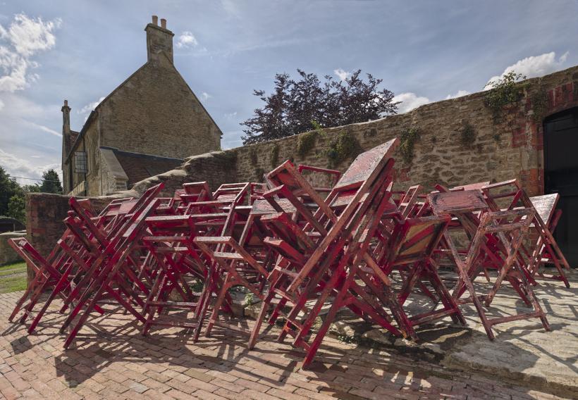Installation view, 'Phyllida Barlow. GIG', Hauser & Wirth Somerset, 2014