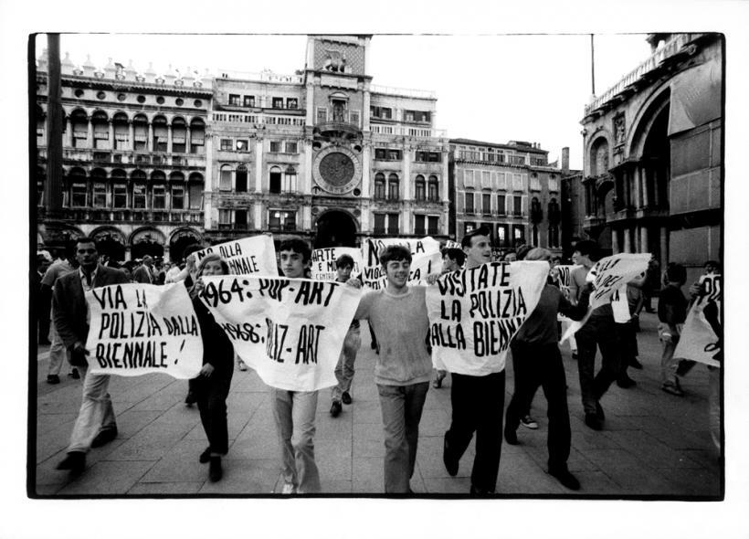 Venice, 1968. Student Protest, XXXIV Esposizione Biennale Internazionale d'Arte