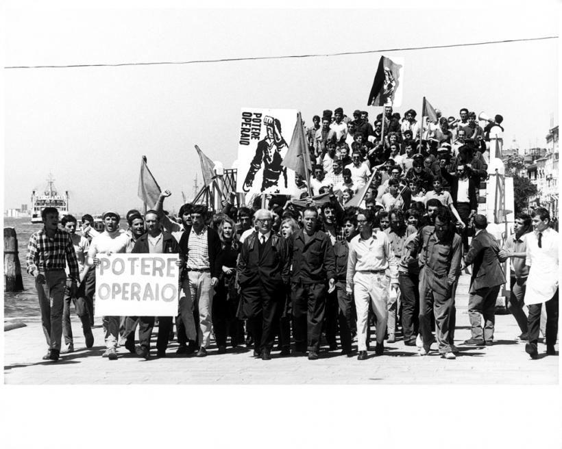 Venice, 1968. Artist, workers and students protest, XXXIV Esposizione Biennale Internazionale d'Arte