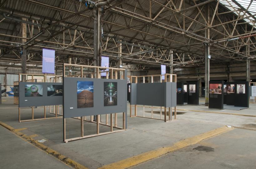 Installation View, Five Collectives, A Return To Elsewhere, Brighton Photo Biennial 2014