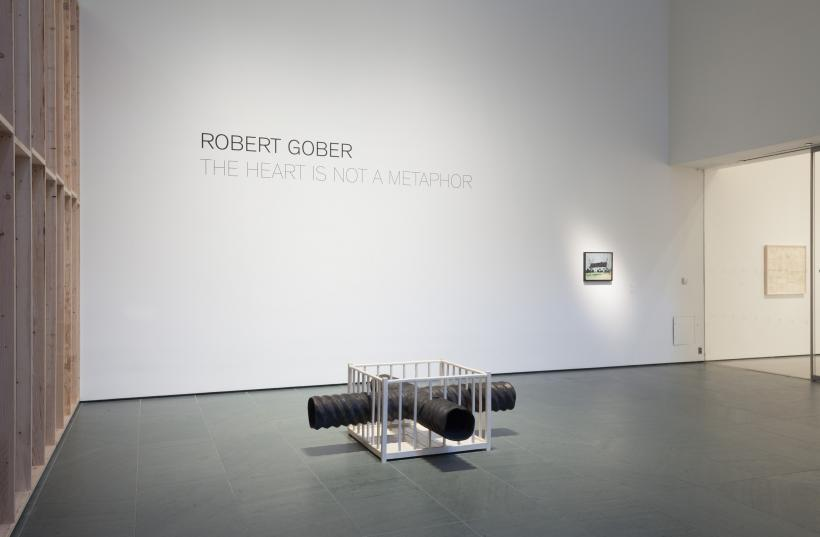 Installation view of Robert Gober: The Heart Is Not a Metaphor, The Museum of Modern Art