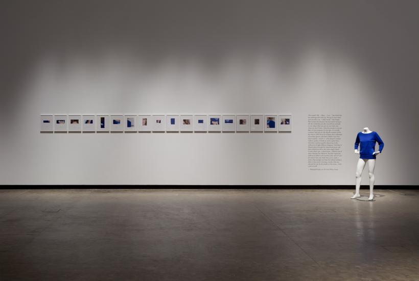 Tobias Kaspar, Lumpy Blue Sweater, (2010) Installation view: Blue Times, Kunsthalle Wien (2014)