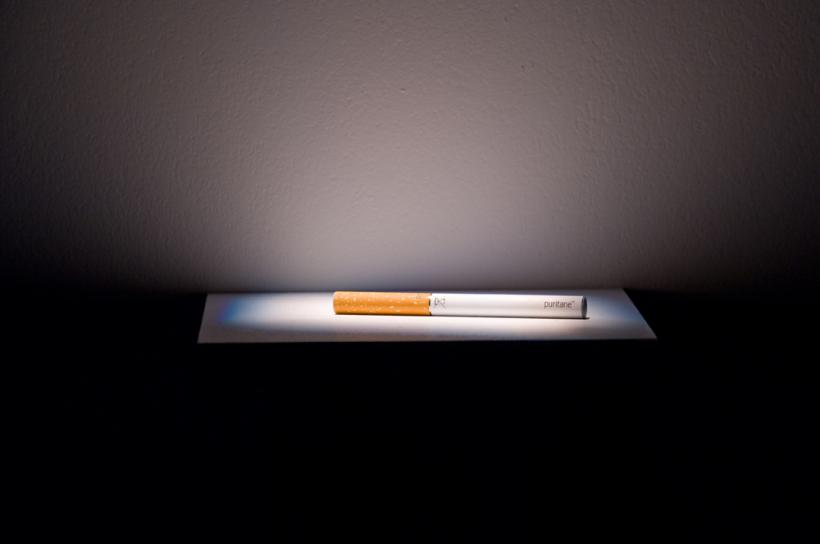 Laure Prouvost, The e-cigarette and the butter (2014) (detail) Listening installation view (2014)