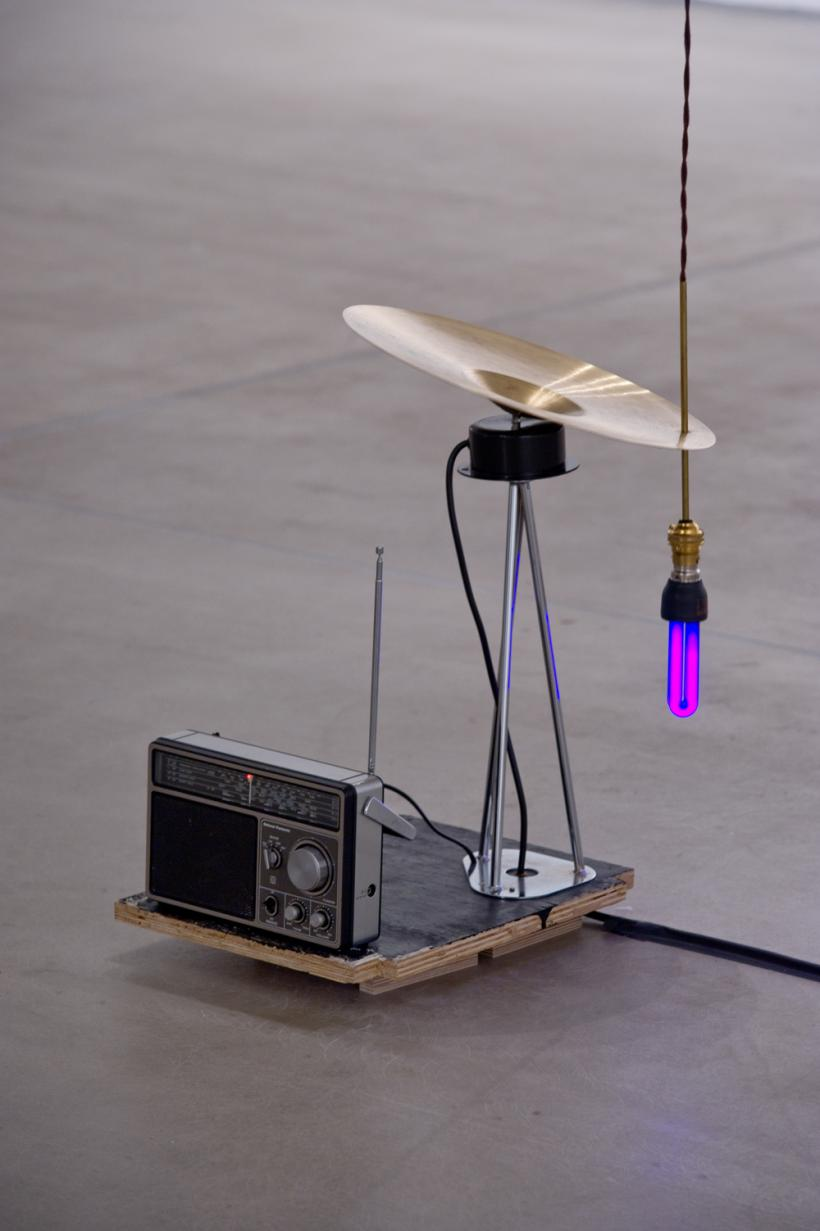 Haroon Mirza, Siren (2012) Listening installation view (2014)