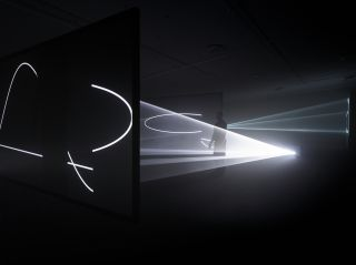 'Anthony McCall - Solid Light Films and Other Works (1971-2014)' installation view at EYE Film Museum, Amsterdam