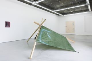 Kenneth Alme, My Tarp Has Sprung a Leak, installation view (2014)