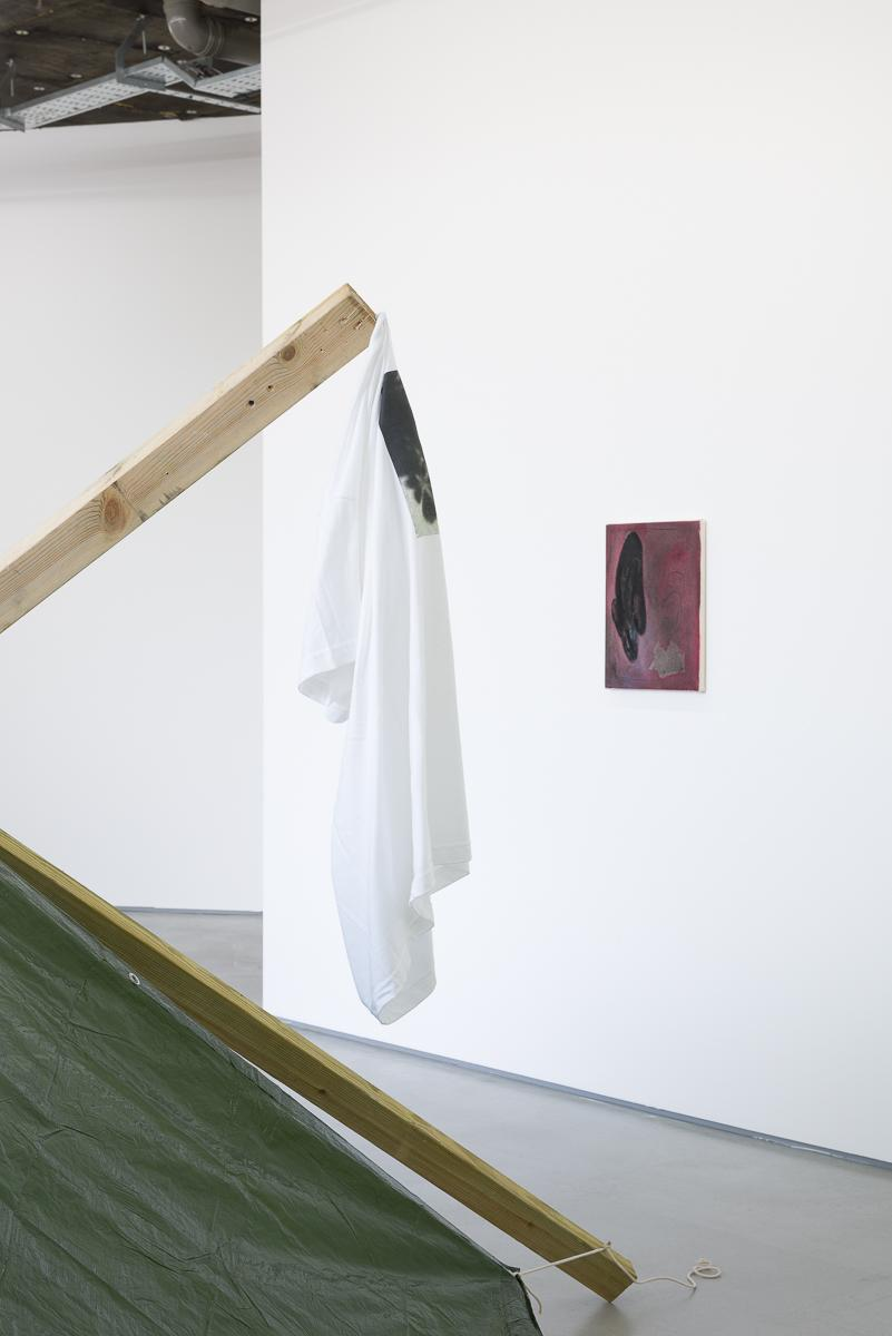 Kenneth Alme, My Tarp Has Sprung a Leak, installation view (2014)