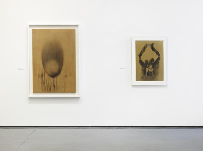 Installation view: David Hammons Yves Klein / Yves Klein David Hammons, 2014