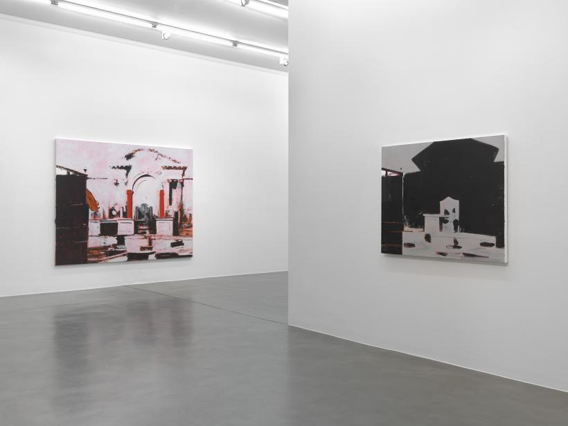 Dexter Dalwood, 'London Paintings', 2014 installation view at Simon Lee Gallery, London