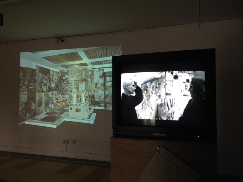 Installation view from Anna Oppermann: Cotoneaster horiztonalis, Cooper Gallery, DJCAD, (2014)