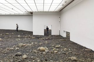 Installation view of Riverbed at Louisiana Museum of Modern Art