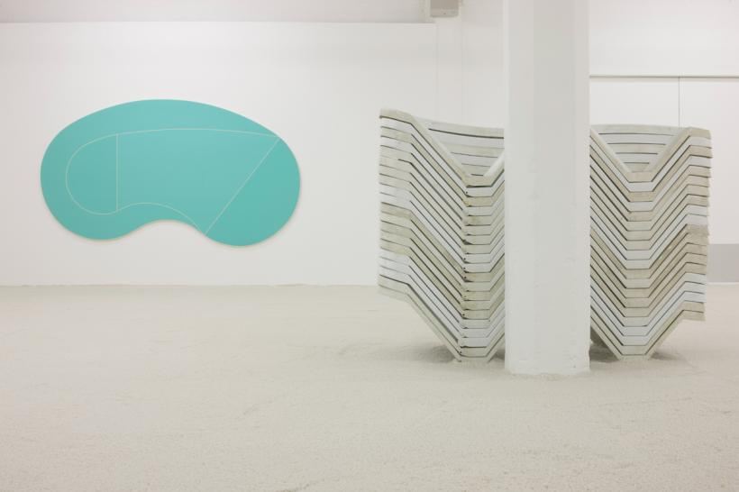 Dominic Samsworth, Salting the Mirage, Installation view at SWG3, Glasgow (2014)