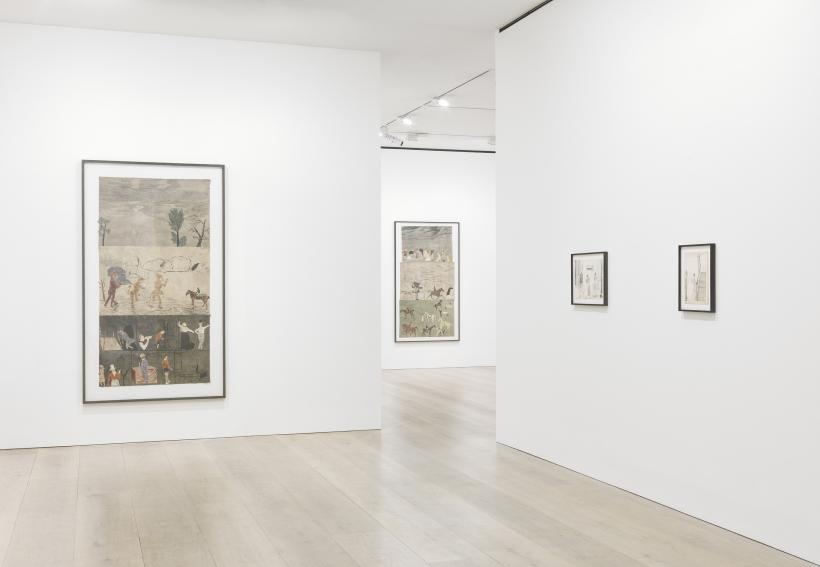 Jockum Nordstroem, For the insects and the hounds, installation view at David Zwirner, London