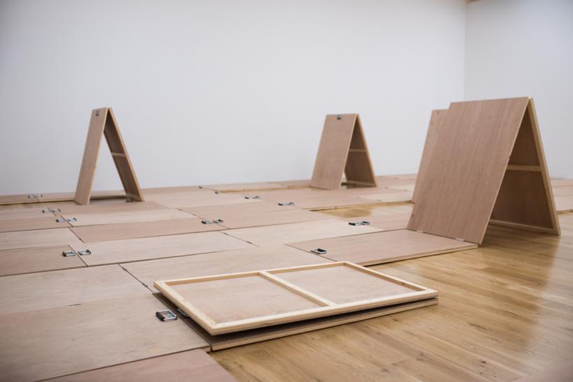 Artes Mundi 6, National Museum, Renata Lucas: Falha, installation view (2014)