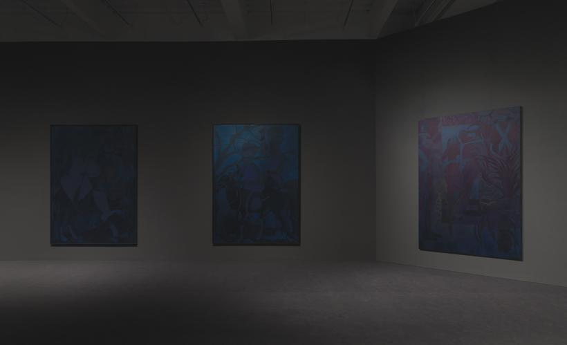 Chris Ofili: Night and Day, installation view at New Museum