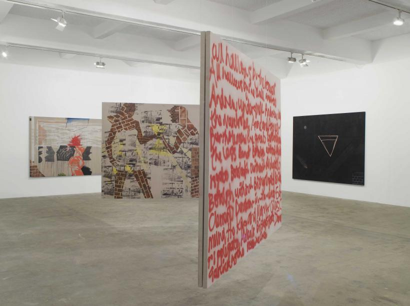 Caragh Thuring, exhibition view, Chisenhale Gallery, 2014