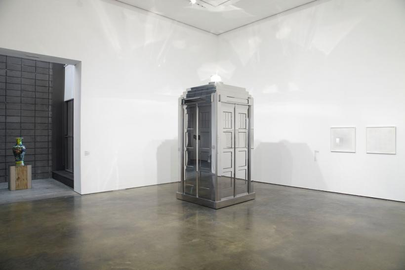 Middle Gallery installation view showing Mark Wallinger Time and Relative Dimensions in Space