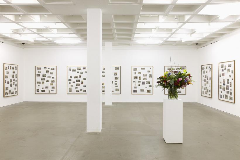 Willem de Rooij, Index: Riots, Protest, Mourning and Commemoration (as represented in newspapers, January 2000- July 2002) installation view, 2014