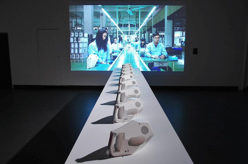 Tuur Van Balen & Revital Cohen, installation view, Time and Motion: Redefining Working Life, transmediale 2015