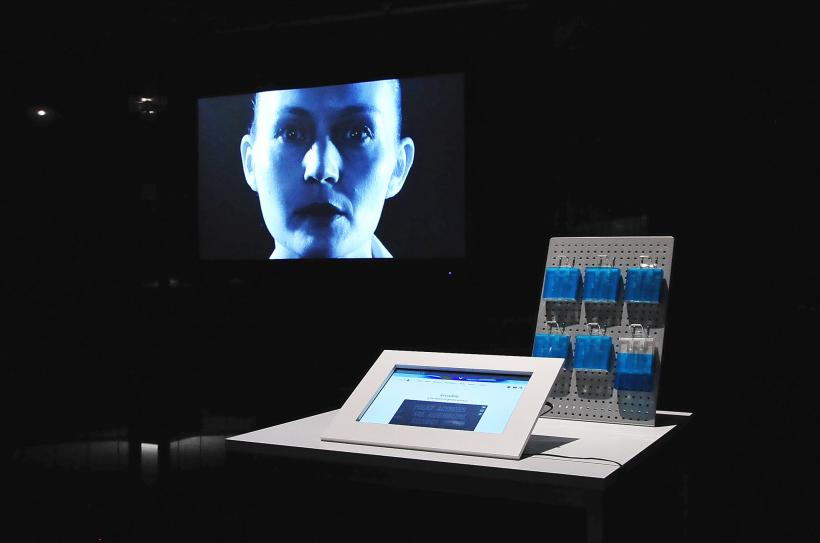 Heather Dewey-Hagborg, Invisible, installation view at CAPTURE ALL, transmediale 2015