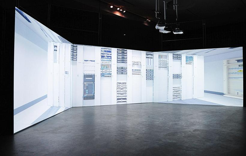 Timo Arnall, Internet Machine, installation view at CAPTURE ALL, transmediale 2015