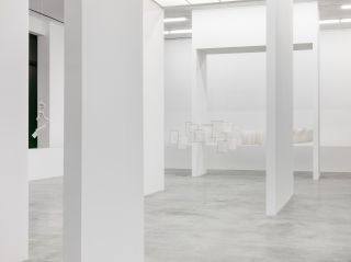 Installation view, Mira Schendel, Monotypes
