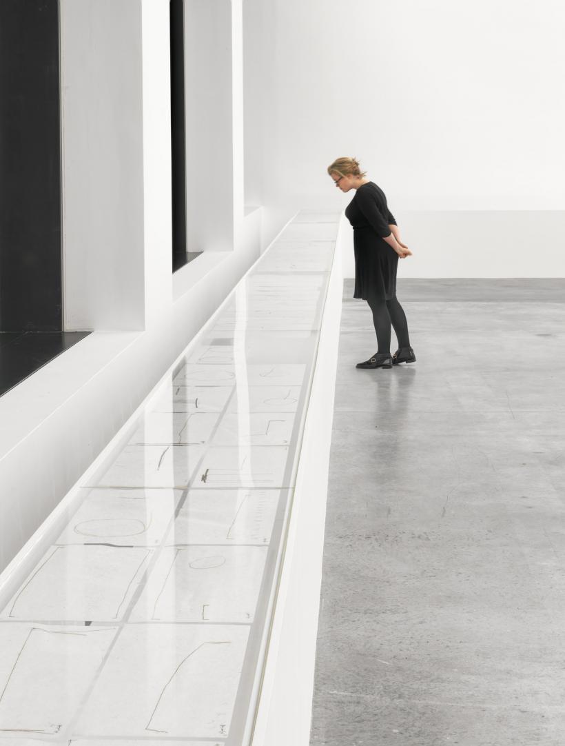 Installation view, Mira Schendel, Monotypes