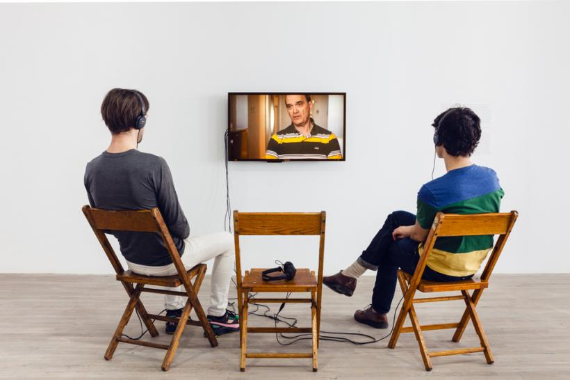 Installation view from Laura Poitras: 9/11 Trilogy, Artists Space, 2014