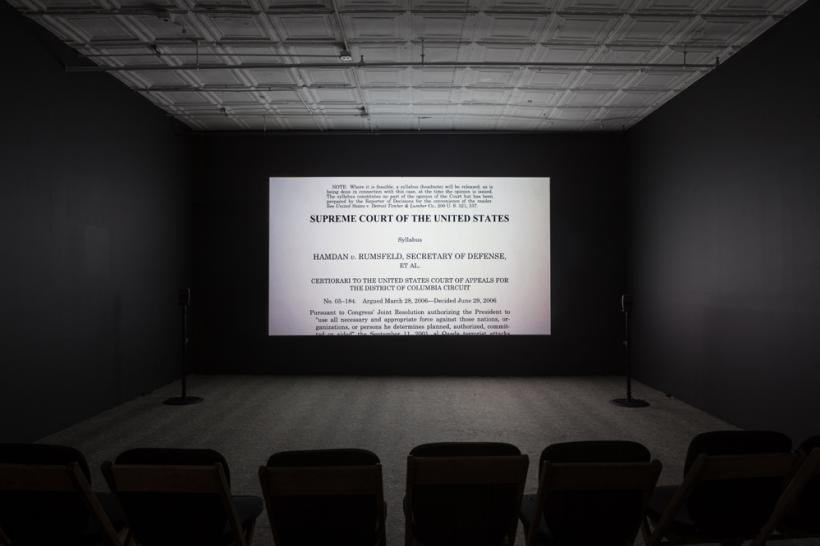 Cinema view from Laura Poitras: 9/11 Trilogy, Artists Space, 2014