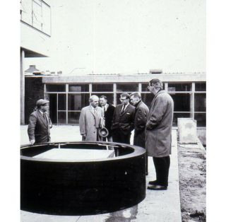 1 Henry Moore, George Fullard and Lawrence Gowing 1964 photo Tony Rogers
