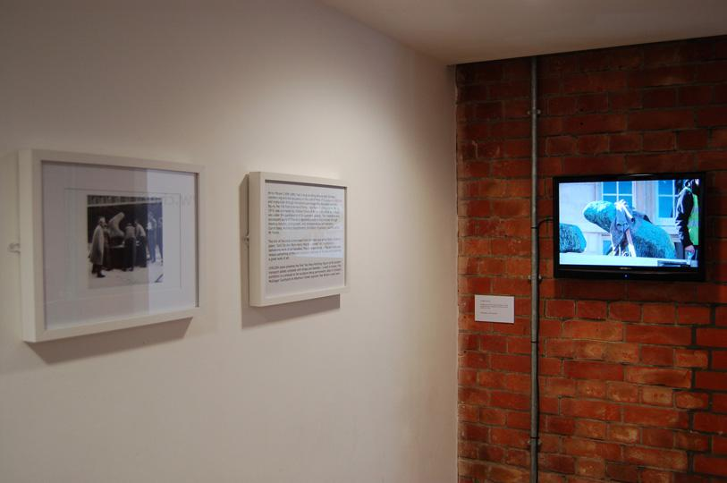 2 photo of Henry Moore in 1964 and dvd footage of the sculpture from 2010