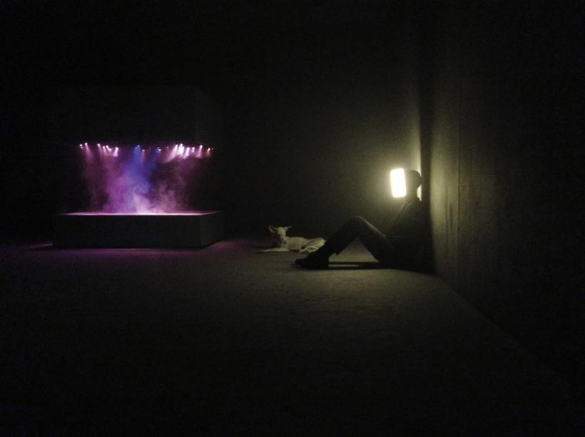 Installation view of the exhibition 'Pierre Huyghe' at the Centre Georges Pompidou, September 2013–January 2014