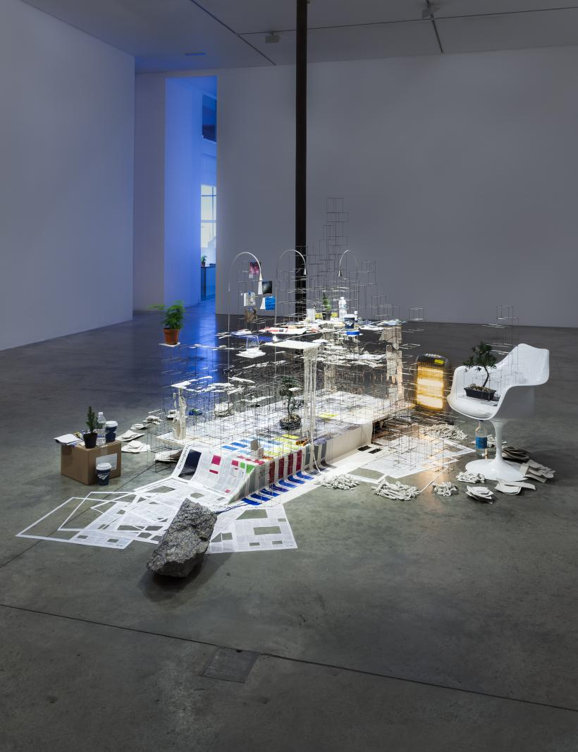 Installation view, Still Life with Desk