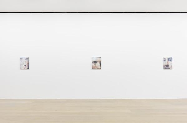 Installation view from the 2015 solo exhibition The Shore at David Zwirner, London.