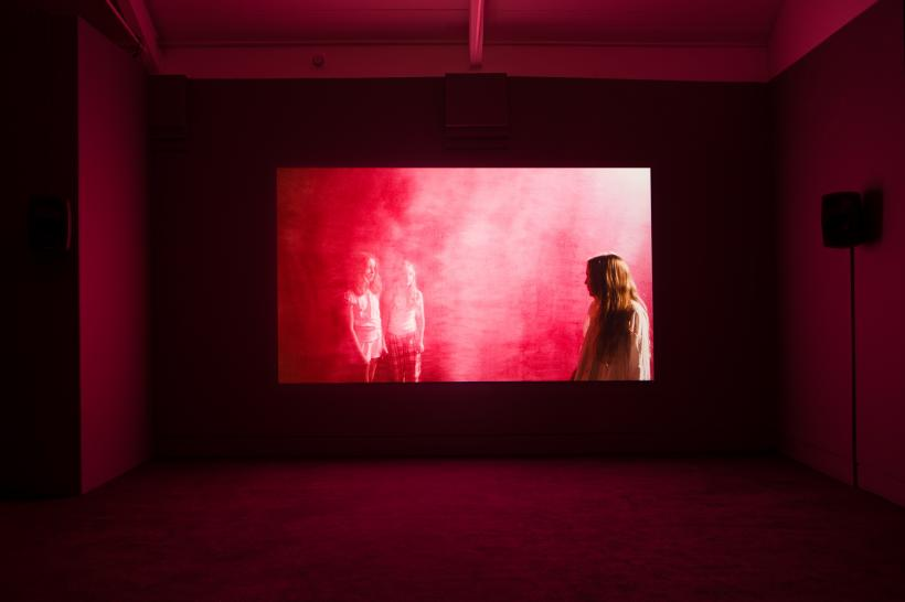 Installation view of Blood.  Produced as part of the Jerwood/FVU Awards 2015, What Will They See of Me?, on show at Jerwood Space