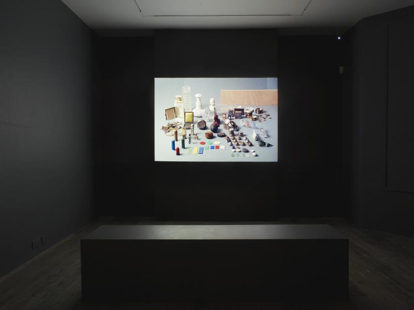 Installation view of Paysage avec poussin at the South London Gallery, 2015.