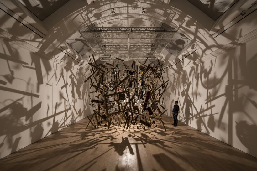 Cornelia Parker, Cold Dark Matter, Installation view at The Whitworth, 2015