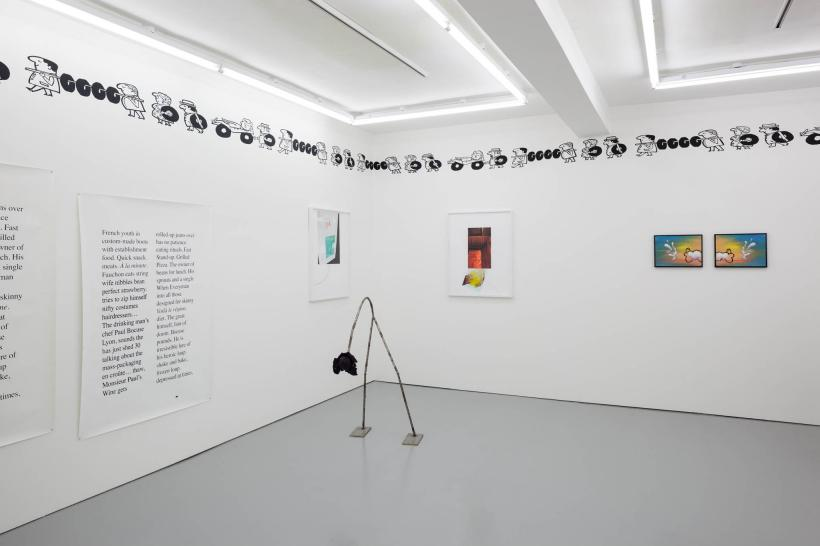 Mm! Mm! Good!, 2015, installation view. Rowing, London.