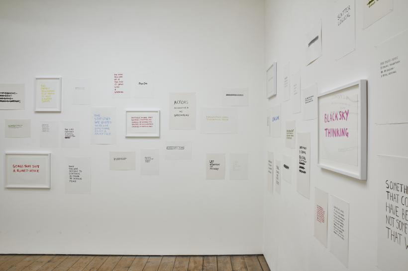 Personal Statement (installation view)