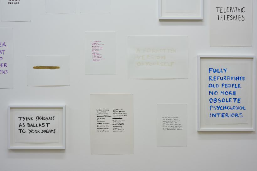 Personal Statement (installation view) (detail)