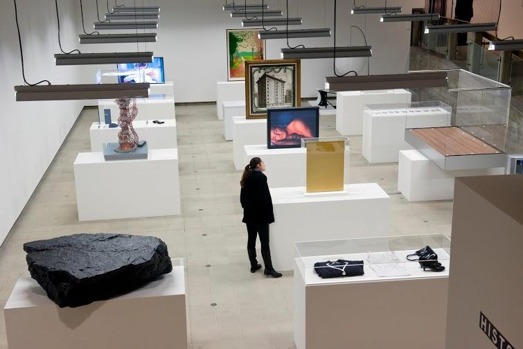 Installation view of Simon Fujiwara's curated section at Hayward Gallery, History Is Now: 7 Artists Take On Britain.
