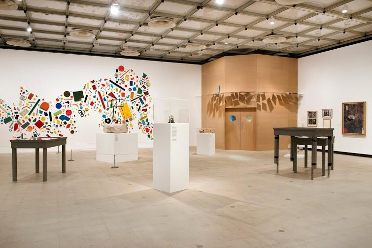 Installation view of Richard Wentworth's curated section at Hayward Gallery, History Is Now: 7 Artists Take On Britain.