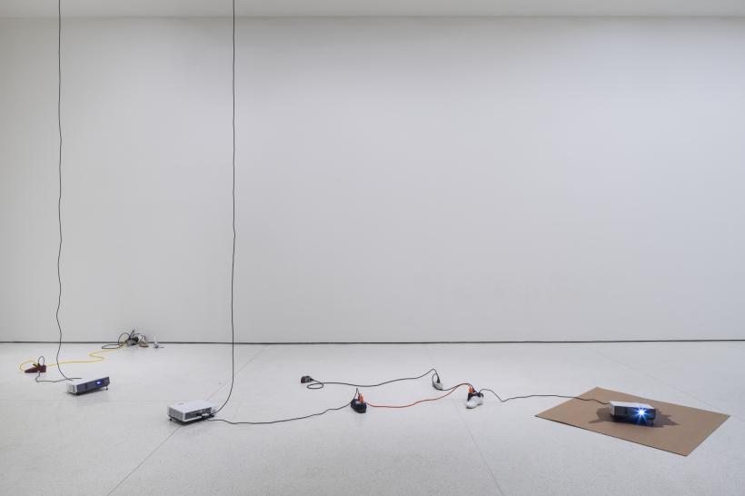 Paul Chan, Sock N Tease, 2013. Installation view: The Hugo Boss Prize 2014: Paul Chan, Nonprojections for New Lovers, Solomon R. Guggenheim Museum, New York