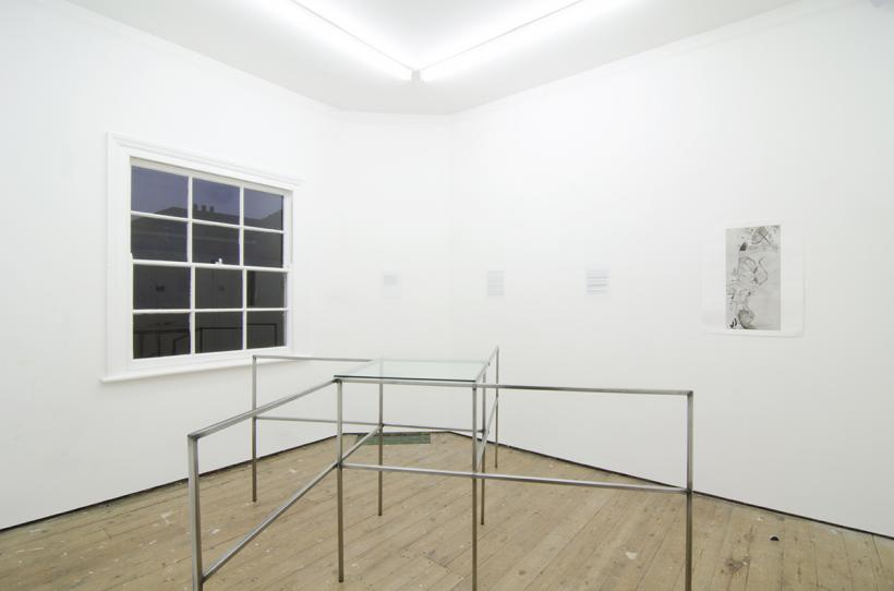 Installation view of Occasional Table #1: Chora organised by Géraldine Beck & Benjamin Rosenthal, November 21st - December 6th