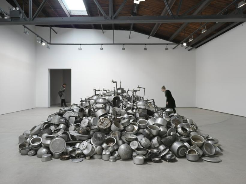 Installation view, 'Subodh Gupta. Seven Billion Light Years', Hauser & Wirth New York, 18th Street, 2015