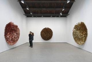 Installation view, 'Subodh Gupta. Seven Billion Light Years', Hauser & Wirth New York, 18th Street, 2015