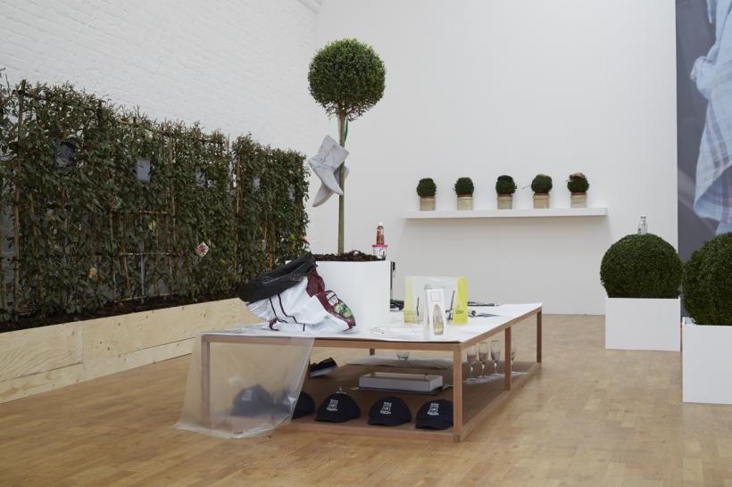Deborah Delmar Corp.: Green Screen, Luxury Study and John, 2015, Modern Art Oxford 2015